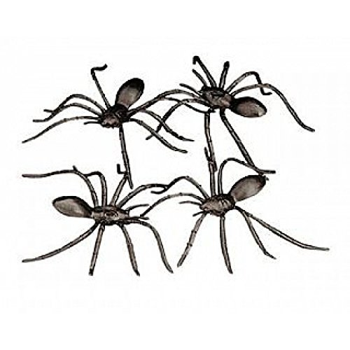 Black Flag Costume For Sale (Fun Express Plastic Halloween Spiders Party Favor - 144 Pieces)