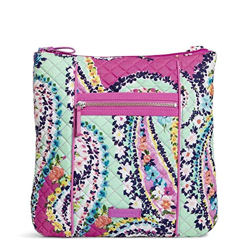 Vera Bradley Iconic Hipster Crossbody Bag, Signature Cotton, Wildflower Paisley ()