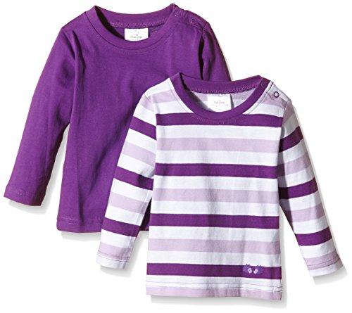 Twins Baby - Mädchen Langarmshirt im 2er Pack, Gr. 50, Violett (Amaranth Purple 193536)