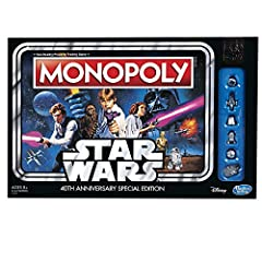 It's the Fast-Dealing Property Trading Game taken to a galaxy far, far away! Celebrate the 40th anniversary of the original Star Wars movie with this special edition of the Monopoly game. Players can relive the story of Star Wars: A New Hope ...