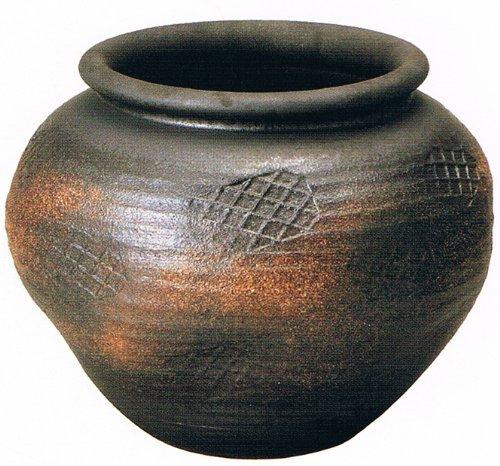 焼締丸花瓶 13号 信楽焼 陶器 花器 花入 花瓶 B00AMVG074