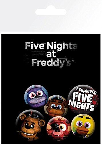 Five Nights at Freddy's Paquet De Badges - Mix, 4 X 25mm & 2 X 32mm Badges (15 x 10 cm) 1art1®