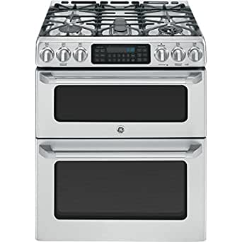 """GE Cafe CGS990SETSS 30"""" Freestanding Gas Range with 5 Sealed Burners, Convection Self-Clean Double Oven and Griddle, in Stainless Steel"""
