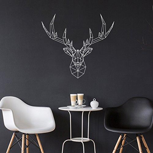 Pulse Vinyl Vinyl Wall Art Decal - Geometric Deer Head - 23