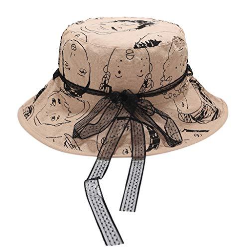 hositor Kentucky Derby Hat, Women Bob Cap Hip Hop Outdoor Sports Summer Ladies Beach Sun Fishing Bucket Hat Khaki