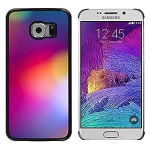 Luces borrosas Púrpura Amarillo Color Colores - Metal de aluminio y de plástico duro Caja del teléfono - Negro - Samsung Galaxy S6 EDGE (NOT S6)