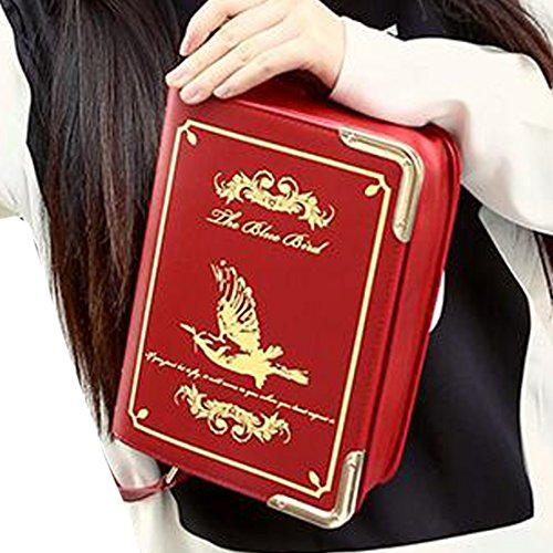 Partiss Damen Magic Book Bibel Shaped Tasche Schwarz Gothic Lolita Handtasche Umhaengetasche Cosplay Shouldertasche Messenger Lolita Handbags A 3