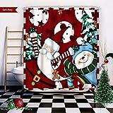 Snowman Shower Curtain Wasserrhythm Merry Christmas Shower Curtain Red Snowman Dancing Custom Fashion Shower Curtain Polyster 72x72 Inches