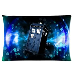Bbc Tv Series Doctor Who Police Box Custom Rectangle Pillow Cases 16X24 (One Side)