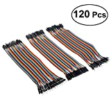 Amotor 30CM Multicolored Dupont Wire Kit - 40pin Male to Female, 40pin Male to Male, 40pin Female to Female Breadboard Jumper Wires Ribbon Cables Kit for Arduino/DIY/Raspberry Pi (120 PCS)
