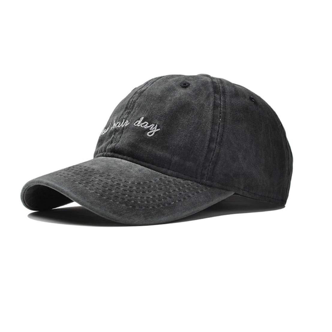 Eohak Dad Hat Distressed Bad Hair Day Baseball Cap (Black) at Amazon Men s  Clothing store  0be2c2080bb