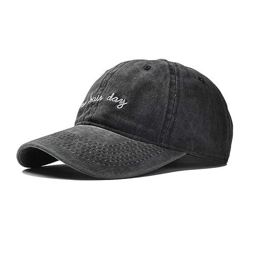1c51ff0b Eohak Dad Hat Distressed Bad Hair Day Baseball Cap (Black) at Amazon ...