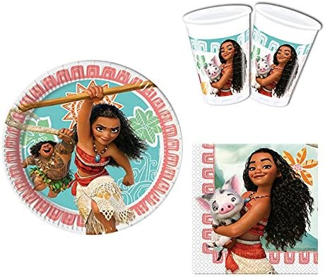 Vaiana Moana Partyset 36 Pieces For 8 guests