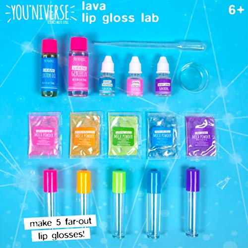 Youniverse Create Your Own Lava Lip Gloss Lab Craft Kit Assorted