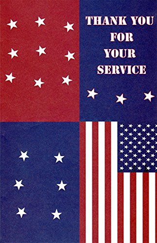 Patriotic Thank You For Your Service Greeting Cards in a Bulk 12 - Responders First And Military Discounts