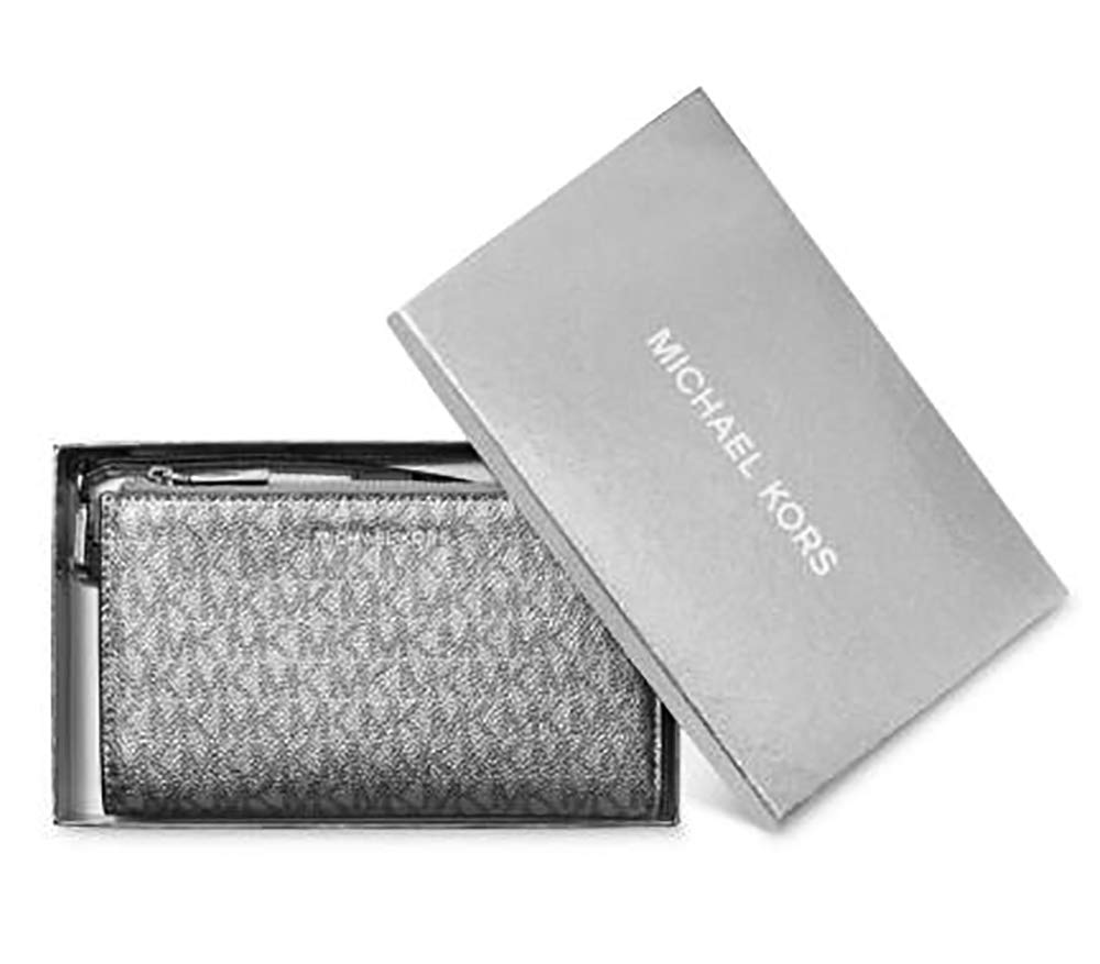 Michael Kors Jet Set Travel double Zip Wristlet (Silver/Black) by Michael Kors (Image #3)