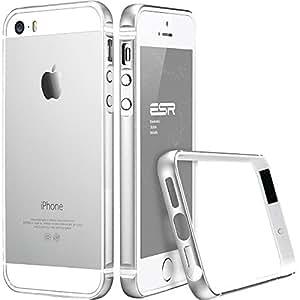 iPhone SE Case, ESR iPhone SE Metal Bumper [Bumper Only No Back Plate] Metal Frame / Bumper for iPhone 5 / 5s / SE Fluencia Series [Shock Absorbent] (Silver)