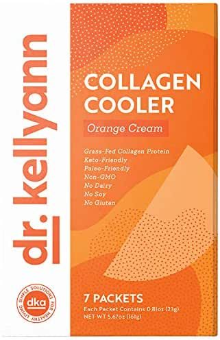 Keto Shake Packets to Go - Orange Cream Smoothie, 100% Grass Fed Collagen Protein Powder – Perfect for Keto, Paleo & Weight Loss Diets - Low Carb Meal Replacement Shake 15g Protein (7 Servings)