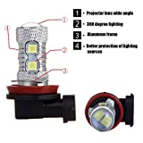 OCPTY H11 High Power White 8SMD LED Bulb Conversion Kit Replacement fit for Fog Light,2Pack