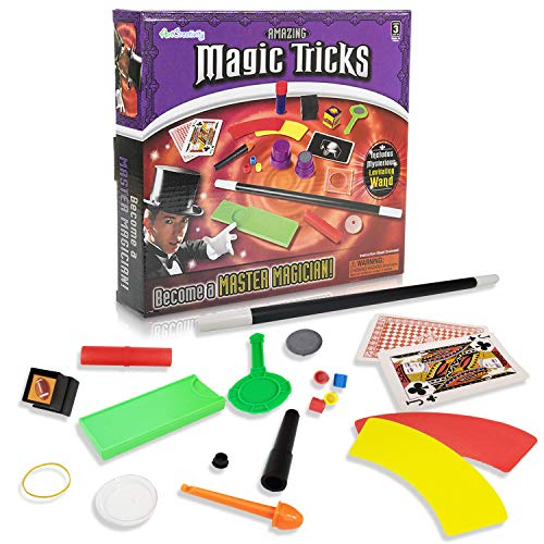 ArtCreativity Magic Trick Kit for Kids - 45 Pcs - Pretend Play Set with Magic Wand and 12 Tricks to Learn Plastic Magician Prop Toys - Best Birthday Gift for Boys, Girls, Toddlers]()