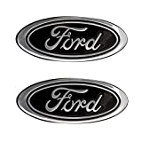 """2006-2011 Ford Ranger Black Oval 9"""" X 3.5"""" Front and Rear (Without Camera) Replacement Badge Emblem Medallion Name Plate for Grille and Tailgate"""