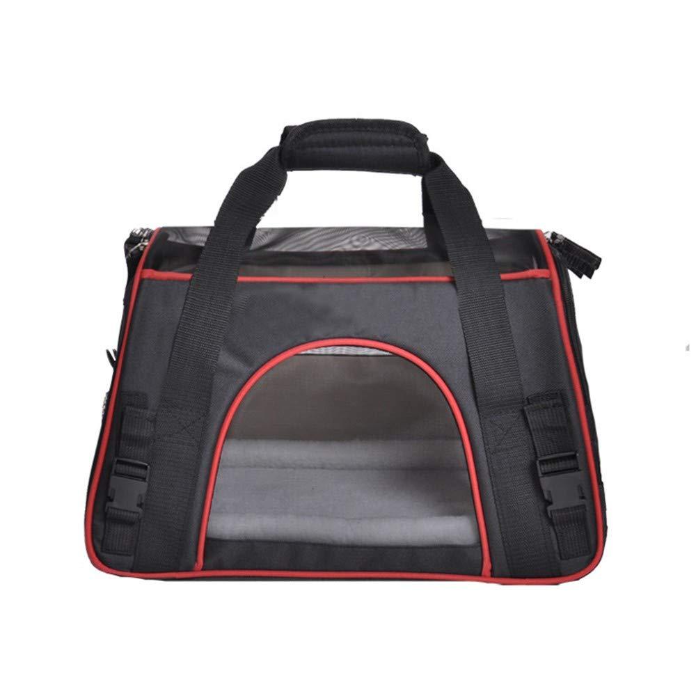 Black 47×24×33cmCOOINSCBXL Pet supplies breathable net pet backpack out portable pet bag, 47 × 24 × 33cm, black
