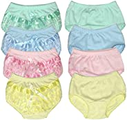 B-One Kids Baby Girls 100% Cotton Diaper Cover Bloomers 4 Pack