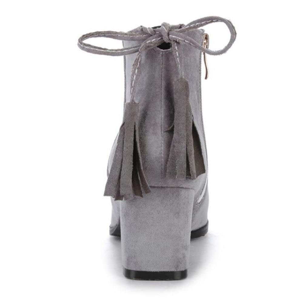 ZHRUI Ankle Damenmode Block Ferse Party Kleid Ankle ZHRUI Stiefel 7fd105