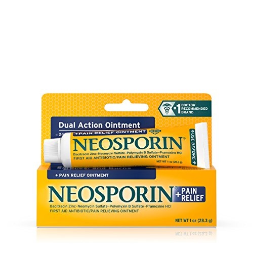 Neosporin First Aid Antibiotic Ointment Maximum Strength Pain Relief, 1-Ounce (Pack of 6)