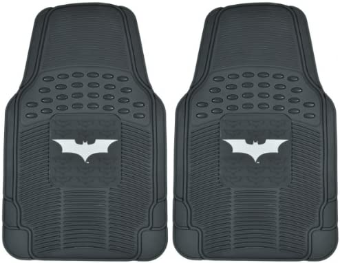 Superhero Car Floor Mats, Officailly Licensed Warner Bros DC Comics, All Weather Interior Auto Protection, Heavy Duty Rubber Liners for Car Truck Van SUV