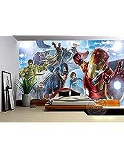 Muurschildering Behang Avengers Jongens Slaapkamer Foto Behang 3D Muurschilderingen Strips Behang Kinderen S Kamer Interieur Ontwerp Kamer Decor