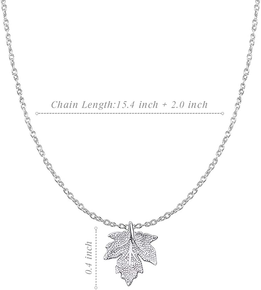 49 Year Old Birthday Gifts for Women Funny 49th Birthday Gifts for Women 49th Birthday Gifts for Women 925 Sterling Silver Womens Maple Leaf Necklace
