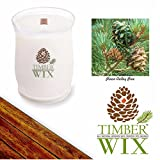 Timber Wix PINON VALLEY PINE Scented Wood Wick Soy Candle (14 oz.) America's Choice All-Natural Candle 100% USA Grown Soy