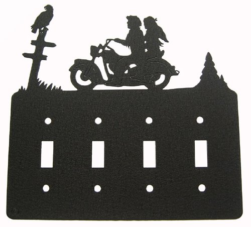 Motorcycle Couple Quadruple Light Switch Plate Cover for sale  Delivered anywhere in USA