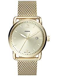Men's 'The Commuter' Quartz Stainless Steel Casual Watch, Color:Gold-Toned (Model: FS5420)