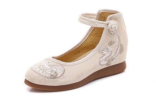 Bordado Zapatos/Alpargatas/ Merceditas/Zapatos de tacón Zapatos de Lona Nacionales de Mujer