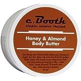 C.Booth Honey & Almond Body Butter 8oz Jar