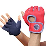 Elements Blue Weight Lifting Gloves with Padded and Anti-Slip...