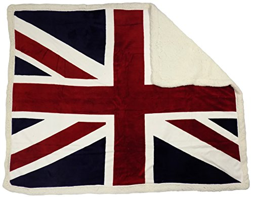 LARGE STUNNING RED WHITE BLUE UNION JACK SOFT FLEECE THROW BLANKET 130 X 160CM