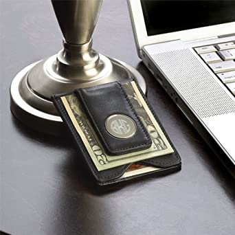 f524be75fdd3c Image Unavailable. Image not available for. Color  Personalized Leather  Monogram Magnetic Money Clip Wallet