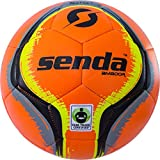 Senda Amador Training Soccer Ball, Fair Trade Certified, Orange/Black, Size 4 (Ages 8-12)