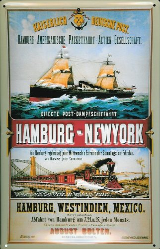 kaiserlich-deutsche-post-hamburg-new-york-steamers-nostalgic-3d-embossed-domed-strong-metal-tin-sign