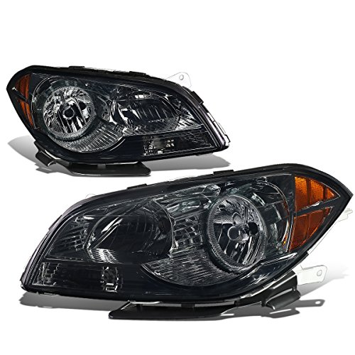 Malibu Headlight Lamp (Chevy Malibu 7th Gen Sedan Pair of Pair Smoked Lens Amber Corner Headlight Lamp)