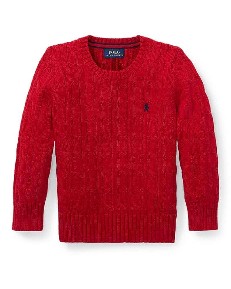 Polo Ralph Lauren Boys Cable Knit Long Sleeve Crewneck Sweater