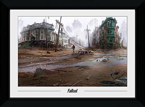 GB eye Ltd Fallout, North End, impresión enmarcada (50 x 70 cm, Madera, Varios, 55 x 75 x 2.9 cm: Amazon.es: Hogar