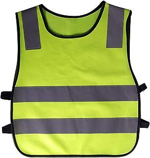 Giubbotto di sicurezza industriale Giubbotto di sicurezza Studenti per bambini Slip On Giubbotto di sicurezza per giacca ad alta visibilità colore giallo con strisce riflettenti Giubbotto di sicurezza