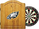 Imperial Officially Licensed NFL Merchandise: Dart Cabinet Set with Steel Tip Bristle Dartboard and Darts, Philadelphia Eagles
