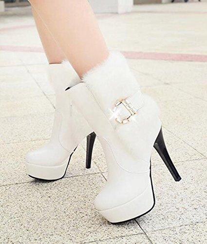 Sandali bianchi con punta rotonda con allacciatura elasticizzata per donna Y7smo
