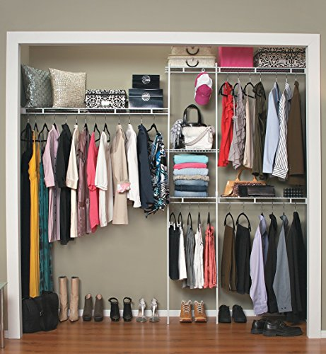 ClosetMaid 1628 Closet Organizer Kit, 5-Foot to 8-Foot, White - bedroomdesign.us