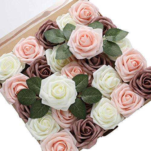 buy rose flowers online -brown white pink rose